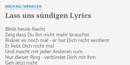 er hat dich nicht verdient lyrics