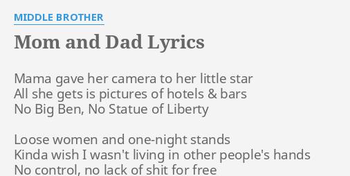 Middle brother lyrics