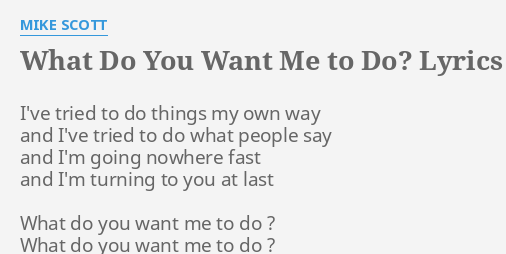 How bad do you want me lyrics