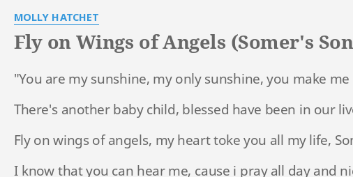 fly on wings of angels somer s song lyrics by molly hatchet you