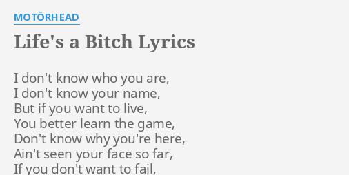 live bitch lyrics