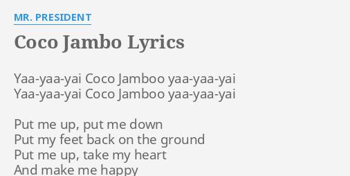 download mr president coco jambo mp3