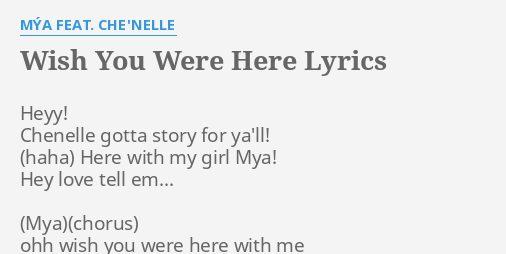 Wish you were with me lyrics