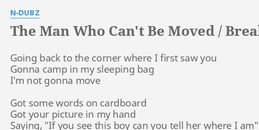 man who cant be move lyrics