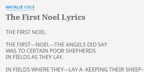 the first noel lyrics by natalie cole the first noel the