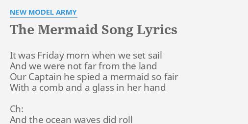 mermaid songs with lyrics