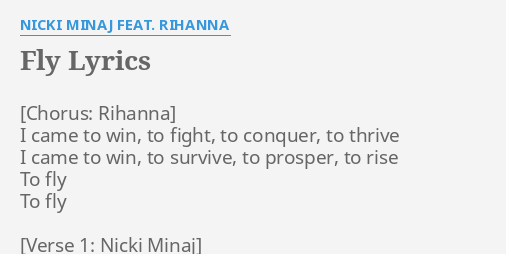 I came to win rihanna