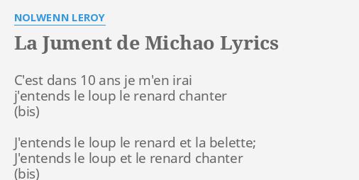 La Jument De Michao Lyrics By Nolwenn Leroy C Est Dans 10