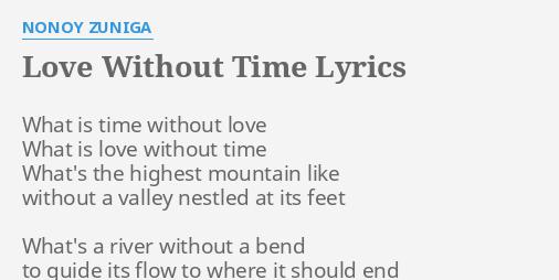 Love without you lyrics