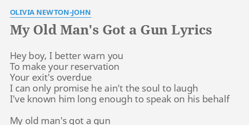 can t get a man with a gun lyrics