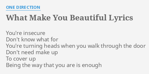 Make them beautiful lyrics