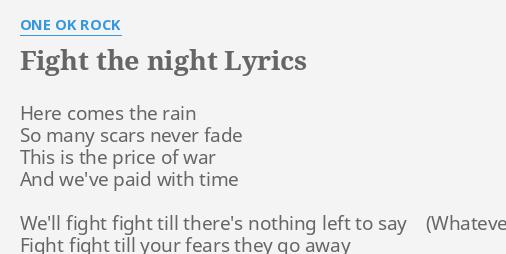 FIGHT THE NIGHT