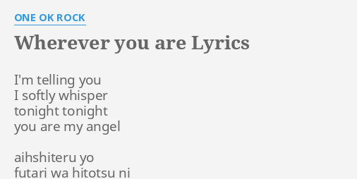Are oneokrock wherever you