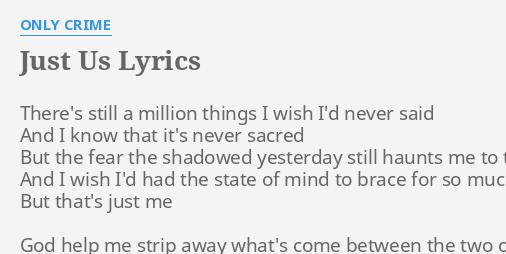 just us lyrics
