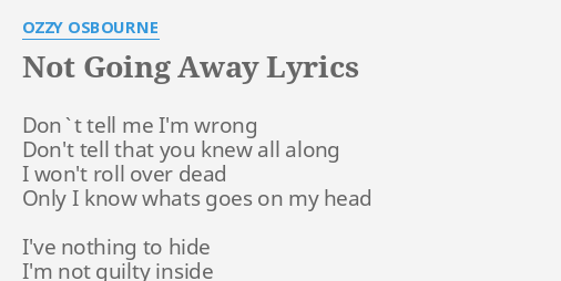 i m going away lyrics