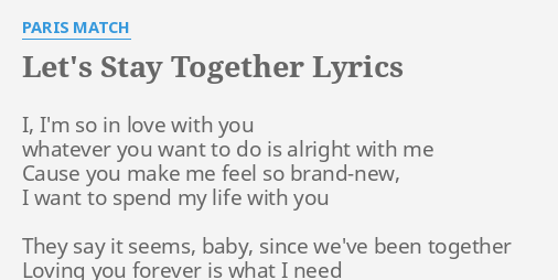 Lyrics of i m in love with you