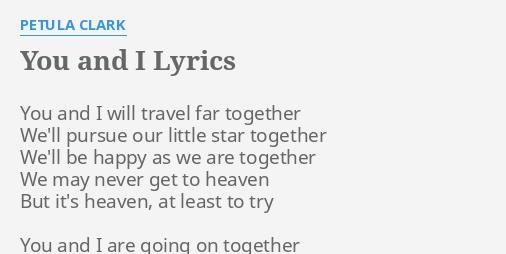 will be together lyrics