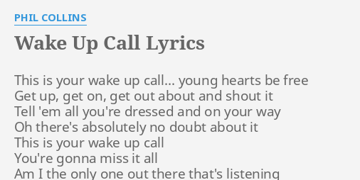 wake up get up get out there lyrics
