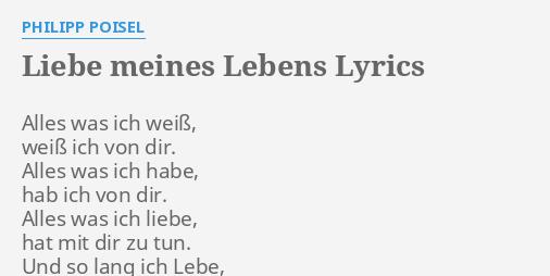 Lyrics du bist die Liebe meines Lebens
