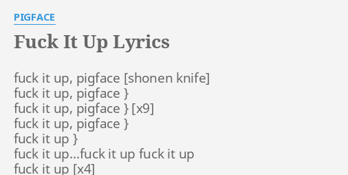 Fuck it lyrics lyrics