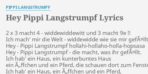 Text Pippi Langstrumpf