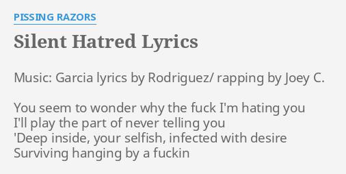 Pissing razors lyrics