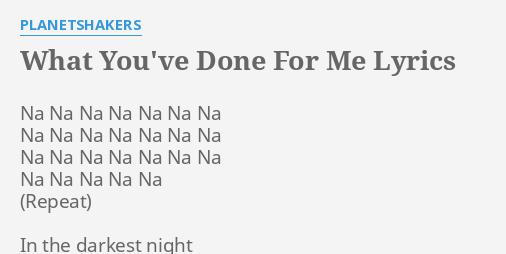 done for me lyrics