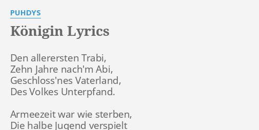 Lirik lagu datiert Königin-Menyesal