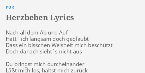 herzbeben lyrics