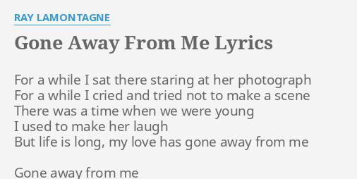 when love has gone away lyrics
