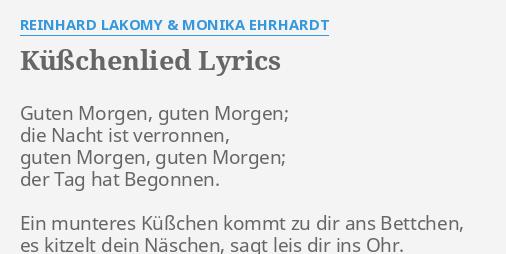 Küßchenlied Lyrics By Reinhard Lakomy Monika Ehrhardt