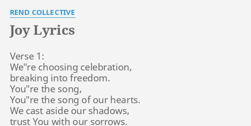 lyrics to joy by rend collective