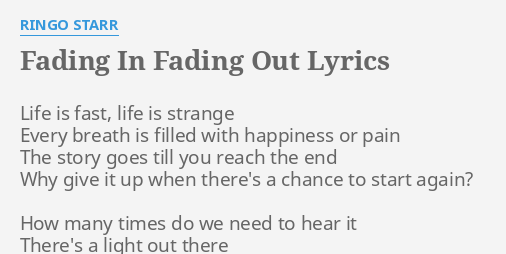 fade in fade out lyrics