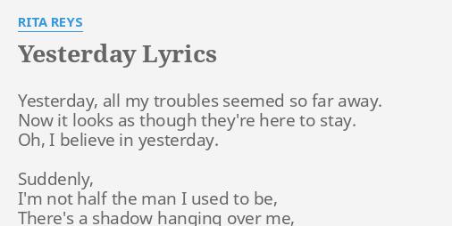 beatles lyrics yesterday - 506×254