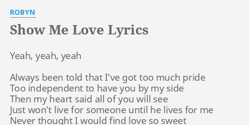 Love show lyrics