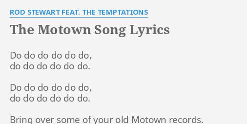 Motown lyrics