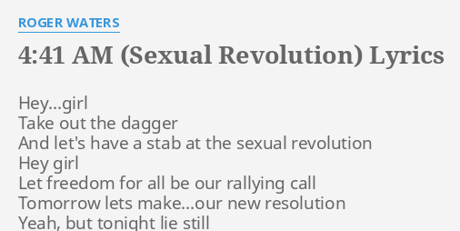Sexual revolution lyrics
