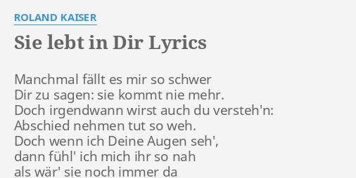Kommt sie mit dir lyrics