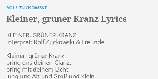 Rolf Zuckowski Weihnachtslieder Texte.Kleiner Gruner Kranz Lyrics By Rolf Zuckowski Kleiner