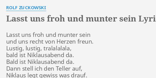 Rolf Zuckowski Lasst Uns Froh Und Munter Sein