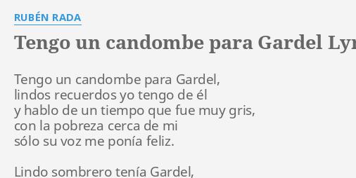 ruben rada tengo un candombe para gardel