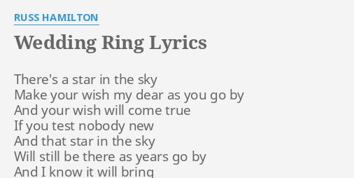 Pin On M U S I C Russ] oh, everybody knows that nobody really knows yeah everybody knows  onscreen lyrics. wedding ring lyrics by russ hamilton