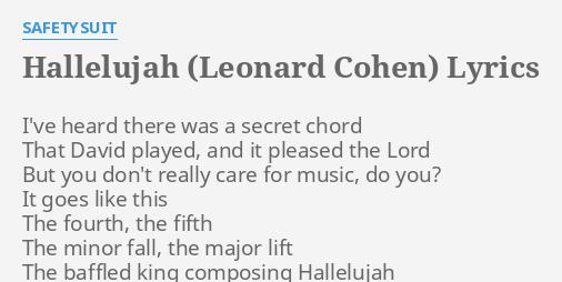HALLELUJAH (LEONARD COHEN)\