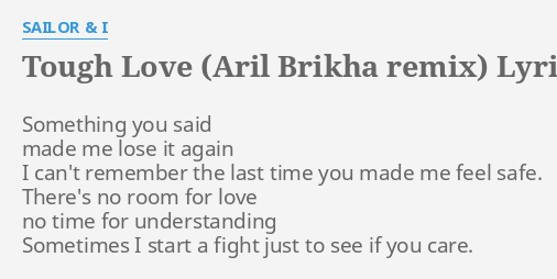 sailor i tough love aril brikha remix