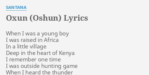 OXUN (OSHUN)