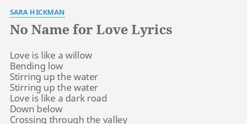 Love is like water lyrics