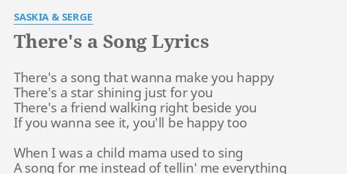 I just want to be happy song lyrics
