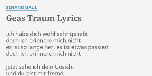 du bist mir fremd lyrics