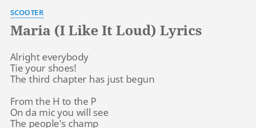 Scooter posse lyrics