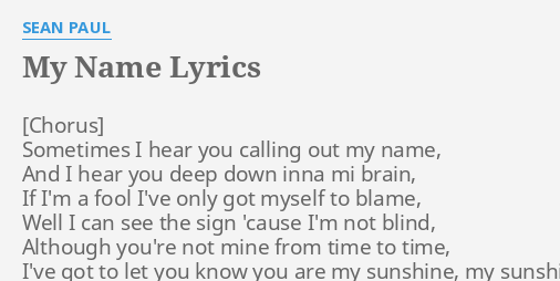 not my name lyrics